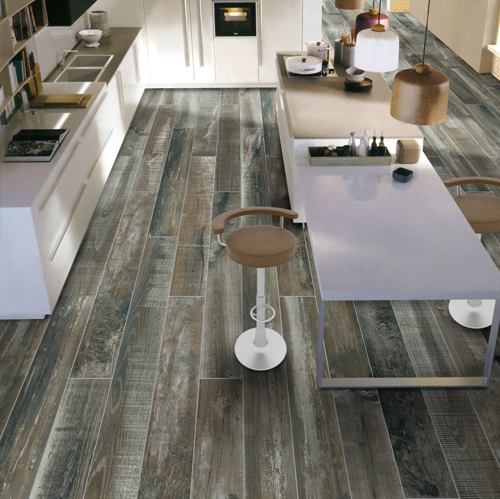 Chalet street blue 6 x36 porcelain floor wall tile for Chalet flooring