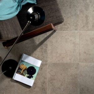 "Fossil-Grey 18"" x 18"" Porcelain Tile"