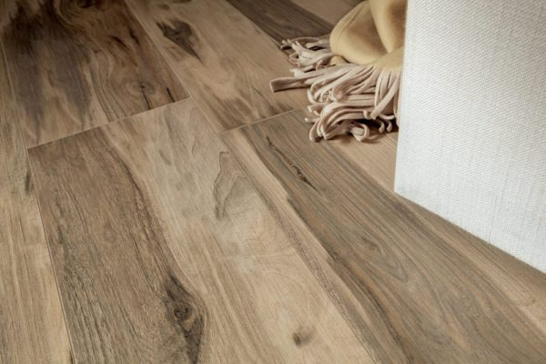 "All Wood Noce 6.5""x40"" Porcelain Glazed Rectified"