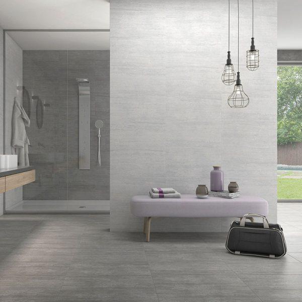 1 ATRIUM MOON Blanco 12x24 porcelain floor wall tile QDI Surfaces product room scene 800x800 1