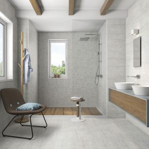 1 ATRIUM MOON Perla 12x24 porcelain floor wall tile QDI Surfaces product room scene 800x800 1