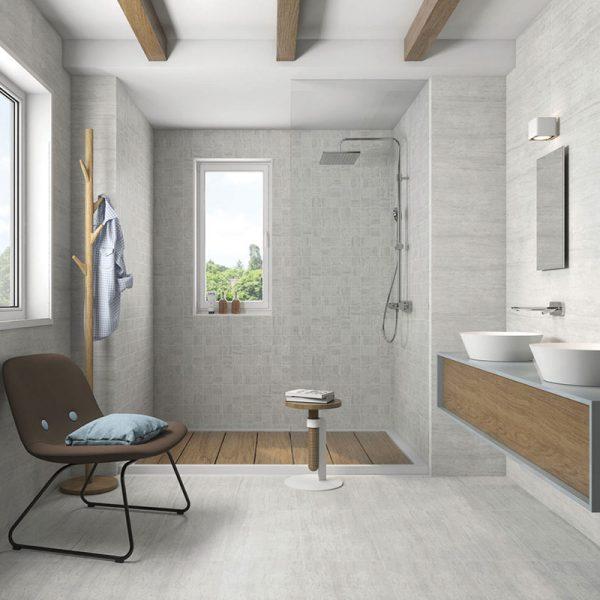 1 ATRIUM MOON Perla 12x24 porcelain floor wall tile QDI Surfaces product room scene 800x800 1