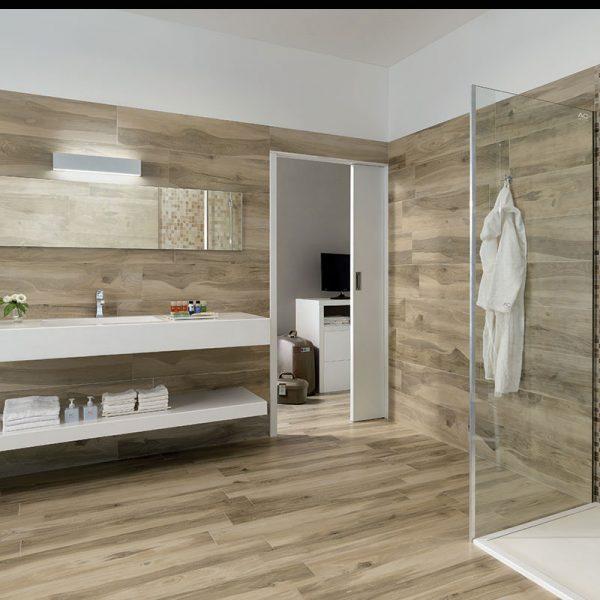 1 ALLWOOD Acero 6.5x40 porcelain floor wall tile QDI Surfaces product room scene 800x800 1