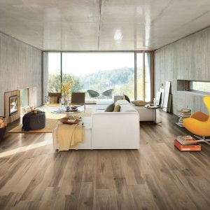 1 ALLWOOD Noce 6.5x40 porcelain floor wall tile QDI Surfaces product room scene 800x800 1