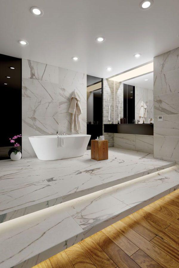 """Calacatta Royal Marble 24""""x24 & 18""""x36"""" Porcelain Tile"""