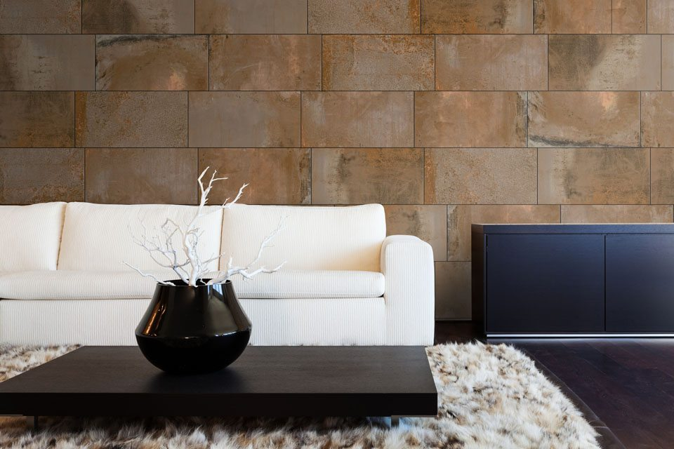 Aegean Magma Copper 12x24 Porcelain Tile