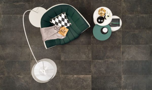 The Rock Black Porcelain Tile