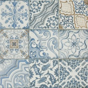 Deco Tile Blue Memory Porcelain Tile
