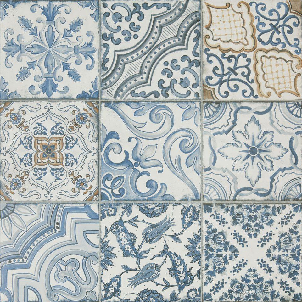 Deco Tile Blue Memory Porcelain Tile