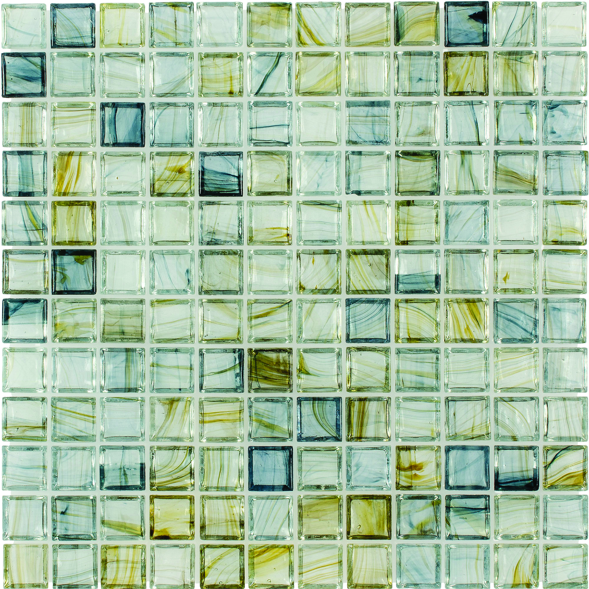 Glass Mosaic Tile aries canal blue