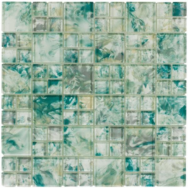 MONET Siren's Blue Glass Mosaic Tile