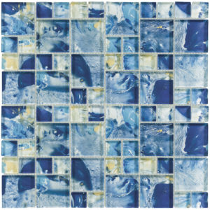 MONET Siren's Breeze Glass Mosaic Tile