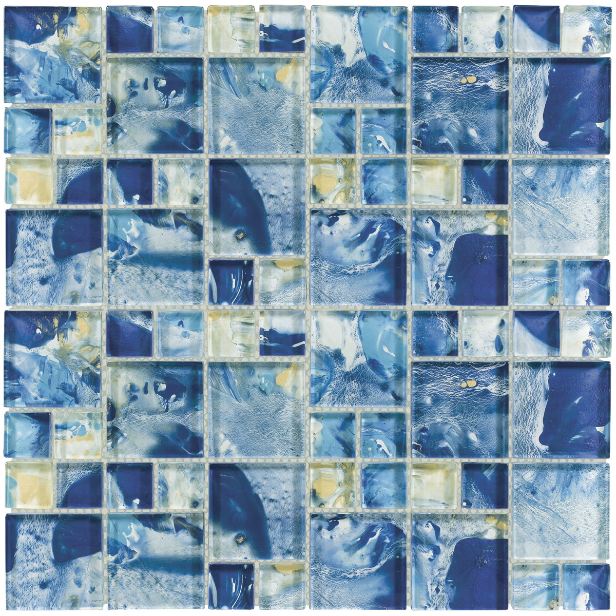 MONET Siren\'s Breeze Glass Mosaic Tile | QDI Surfaces