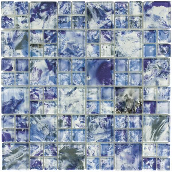 MONET Optic Blue Glass Mosaic Tile
