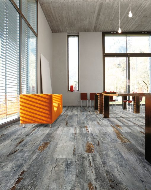 "MAMAWOOD Old Grey 8""x48"" Glazed Porcelain Floor & Wall Tile"