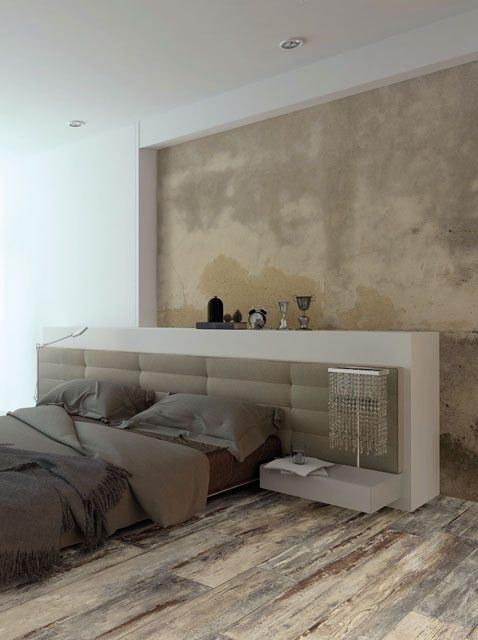 "MAMAWOOD Old Teak 8""x48"" Glazed Porcelain Floor & Wall Tile"