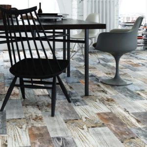 vINTAGE PORCELAIN TILE WOOD LOOK
