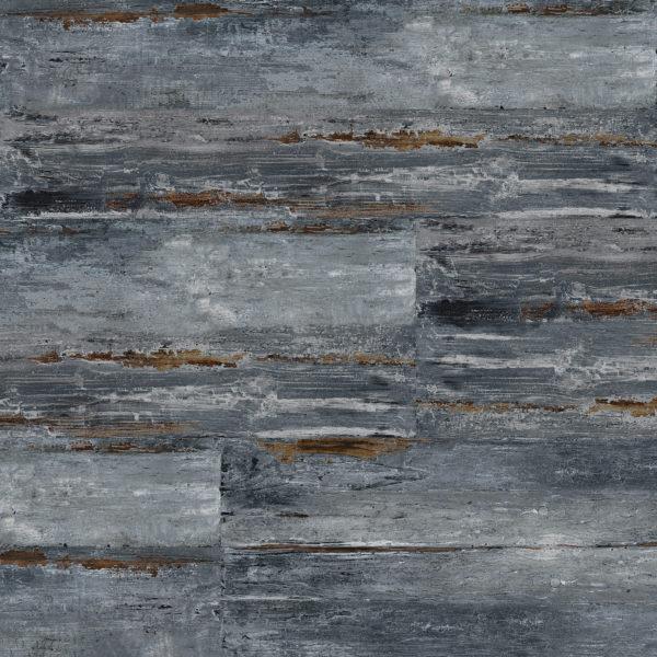 "MAMAWOOD Painted Blue 8""x48"" Glazed Porcelain Floor & Wall Tile"