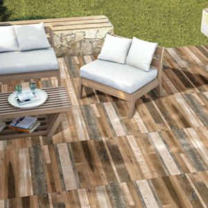 "AMARANTE Bronze 24""x24"" Glazed Rectified Porcelain Paver"