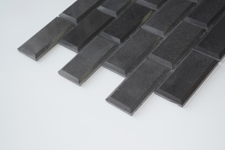 Black Basalt 2 Quot X4 Quot Polished Pillow Edge Basalt Mosaic Tile