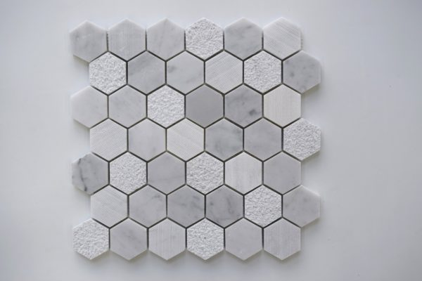 CARRARA Hexagon Honed Marble Mosaic Tile
