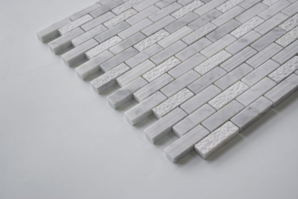 "CARRARA 5/8""x2"" Honed Marble Mosaic Tile"