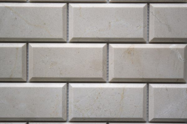 "CREMA MARFIL 2""x4"" Polished Pillow Edge Marble Mosaic Tile"
