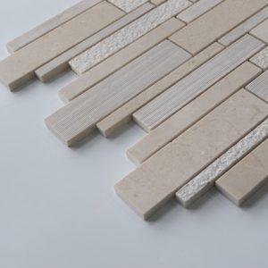 CREMA MARFIL Deco Strip Limestone Mosaic Tile