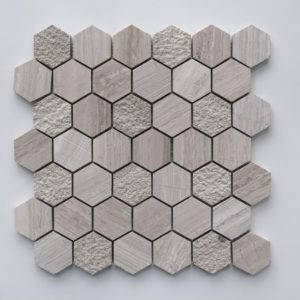 WOODEN GRAY Hexagon Honed Limestone Mosaic Tile