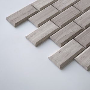 "WOODEN GRAY Honed 2""x4"" Pillow Edge Limestone Mosaic Tile"