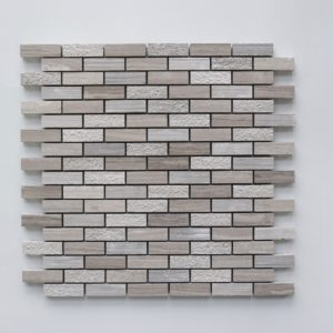 "WOODEN GRAY 5/8""x2"" Honed Limestone Mosaic Tile"