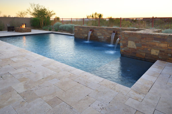 NOCE Versailles Pattern Tumbled Travertine Pavers