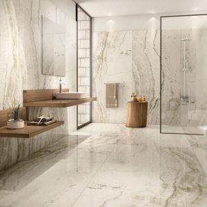 "ONYX WHITE 48""x96"" Glazed Rectified Polished Porcelain Slab"