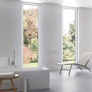 1 STAGE Blanco 12x36 ceramic wall tile QDI Surfaces product room scene 800x800 1