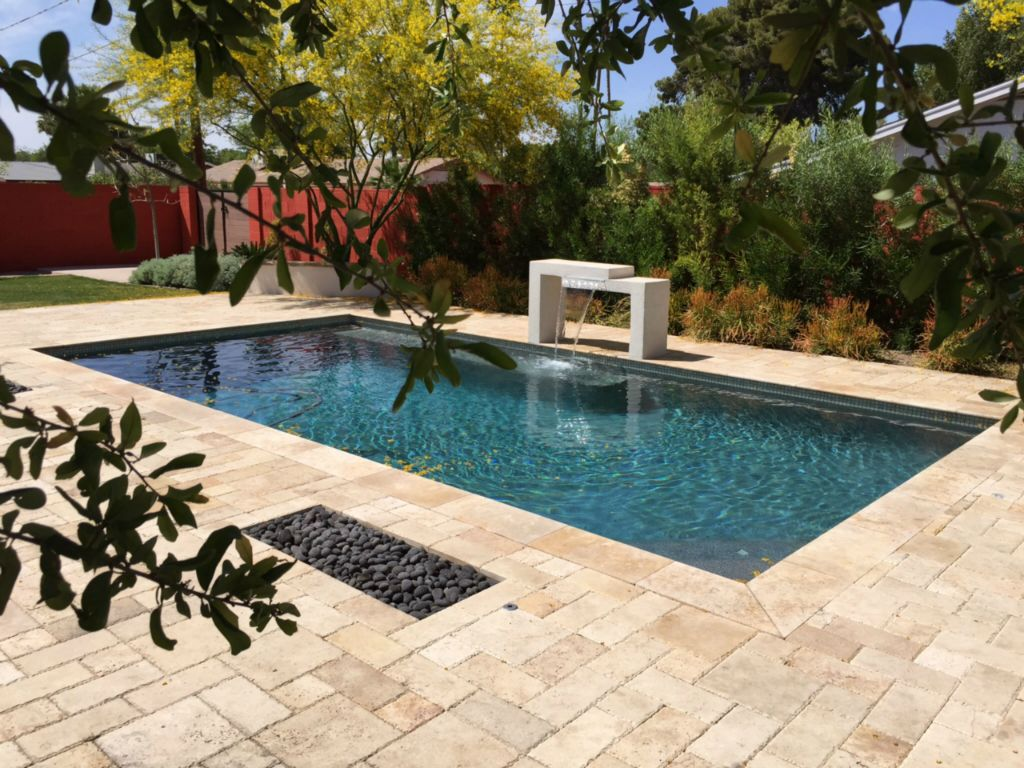 Ancient Castle Travertine Paver 3 pc Roman Pattern Chiseled Brown Tan Beige Cream Gray White Outdoor Floor Wall Pool Patio Backyard QDI
