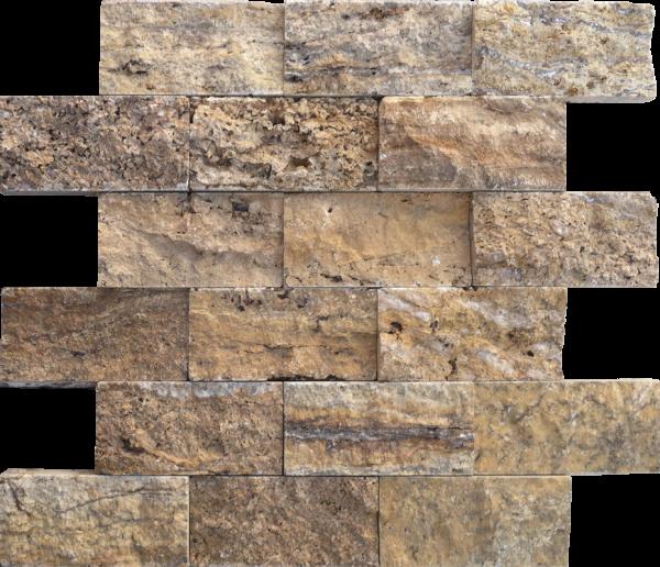 "Alpine 2""x4"" Travertine Split-face Mosaic Tile"