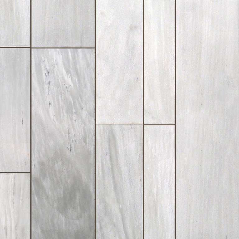 Asos White Marble Plank Floor Tile Gray White Indoor Outdoor Wall Backsplash Tub Shower Vanity QDIsurfaces