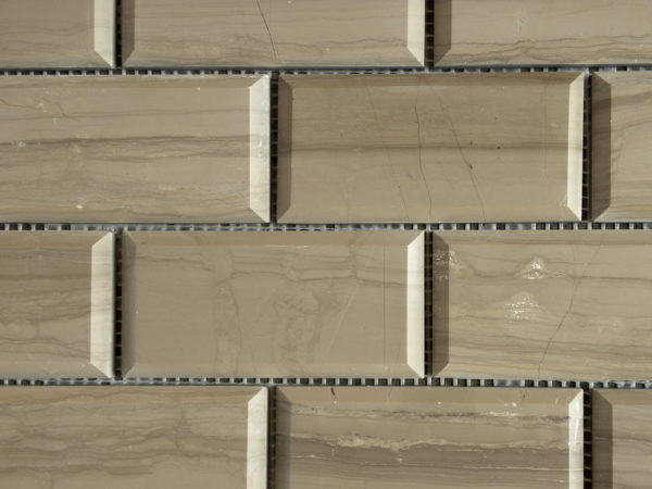 Athens Gray Limestone Mosaic Tile 2x4 Polished Pillow Edge 2 Tan Brown Gray Indoor Floor Wall Backsplash Tub Shower Vanity QDIsurfaces