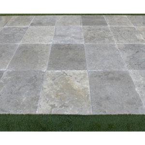 Azul Fantasy Limestone Paver 16x24 Tumbled 4 Blue Gray Outdoor Floor Wall Pool Patio Backyard QDIsurfaces