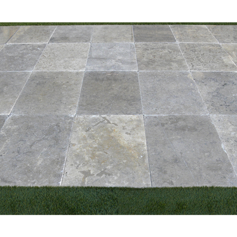 Azul Fantasy Limestone Paver 16x24 Tumbled 4 Blue Gray Outdoor Floor Wall Pool Patio Backyard QDIsurfaces