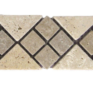 BRD 02 112 Travertine Border Tile Tan Brown Beige Cream Indoor Wall Backsplash Tub Shower Vanity QDIsurfaces