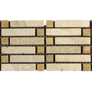 BRD Bellis Travertine Border Tile Tan Brown Beige Cream Indoor Wall Backsplash Tub Shower Vanity QDIsurfaces
