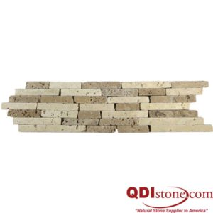 BRD Citona Travertine Border Tile 2x11 Tumbled Tan Brown Beige Cream Indoor Wall Backsplash Tub Shower Vanity QDIsurfaces