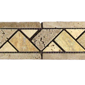 BRD Linda Travertine Border Tile Tan Brown Beige Cream Indoor Wall Backsplash Tub Shower Vanity QDIsurfaces