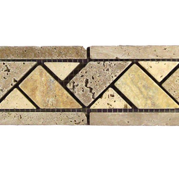 BRD Linda Travertine Border Tile Tan Brown Beige Cream Indoor Wall Backsplash Tub Shower Vanity QDIsurfaces