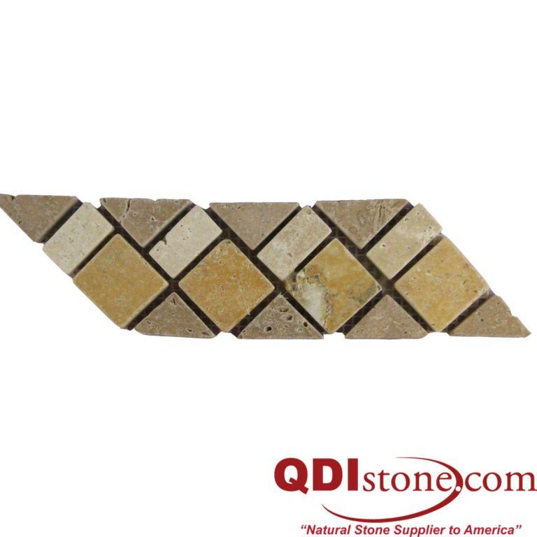 BRD07 110 Travertine Border Tile 3x12 Tumbled Tan Brown Beige Cream Indoor Wall Backsplash Tub Shower Vanity QDIsurfaces