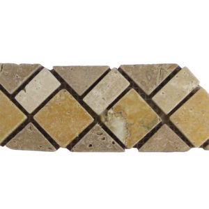 BRD07 110 Travertine Border Tile Tan Brown Beige Cream Indoor Wall Backsplash Tub Shower Vanity QDIsurfaces