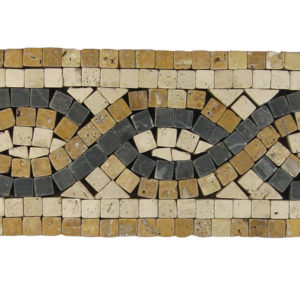 BRD32 110 Travertine Border Tile Tan Brown Beige Cream Black Indoor Wall Backsplash Tub Shower Vanity QDIsurfaces