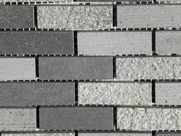 Black Basalt Mosaic Tile 58x2 Honed 3 Gray Indoor Floor Wall Backsplash Countertop Tub Shower Vanity QDIsurfaces