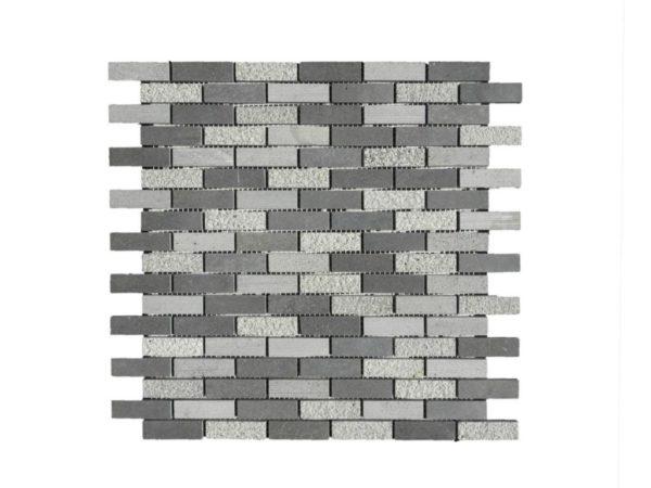Black Basalt Mosaic Tile 58x2 Honed Gray Indoor Floor Wall Backsplash Countertop Tub Shower Vanity QDIsurfaces